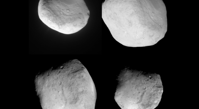 Four Views of Comet Tempel 1