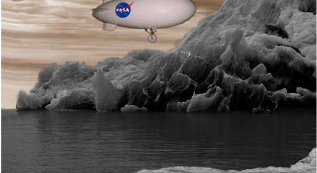 Artist's concept of Aerover Blimp.