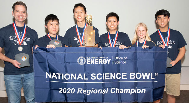 University Science Bowl winners