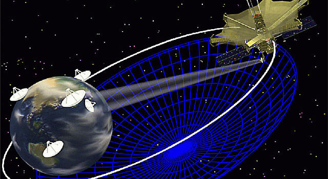 Artist concept of the Space Very Long Baseline Interferometry