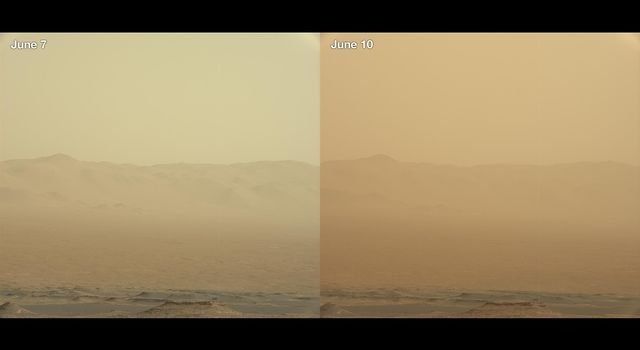Dust inside Gale Crater