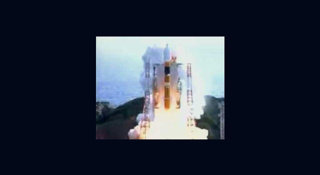 Adeos 2 launch, with SeaWinds instrument on board; Image copyright of NASDA