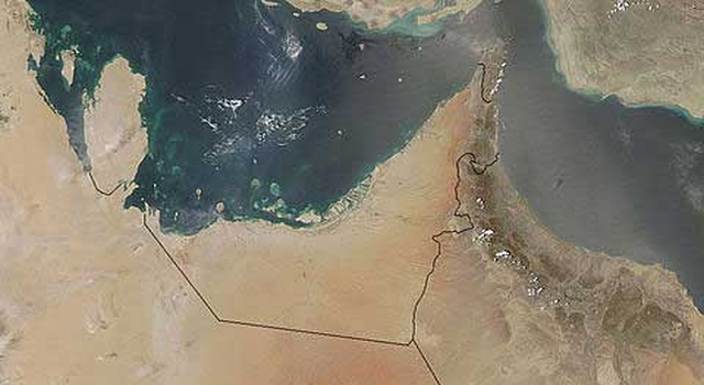 true color image of the United Arab Emirates taken from Aqua-MODIS on August 10, 2004.
