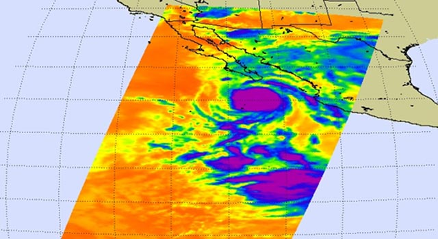 Hurricane Jimena approaches the southern tip of Mexico's Baja peninsula