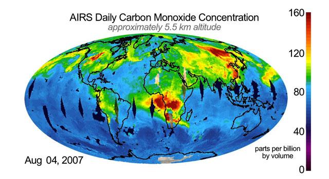 Data from NASA's Aqua satellite