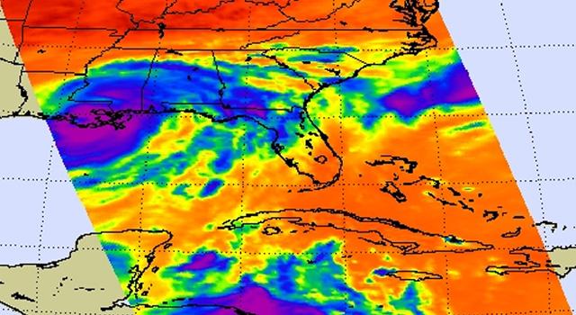 AIRS image of Hurricane Isaac