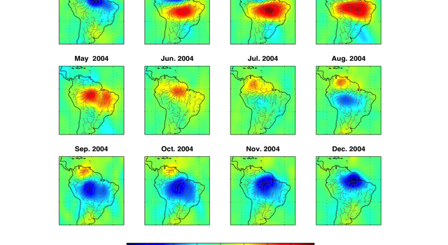 Tracking Seasonal Changes in Earth's Water Cycle
