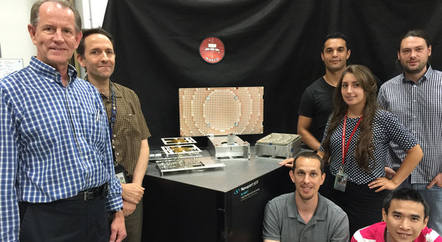 The team that developed the Mars Cube One (MarCo) high-gain antenna.