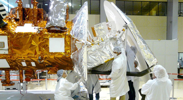 NASA's Salt-Seeking Instrument Gets Blanketed in Silver