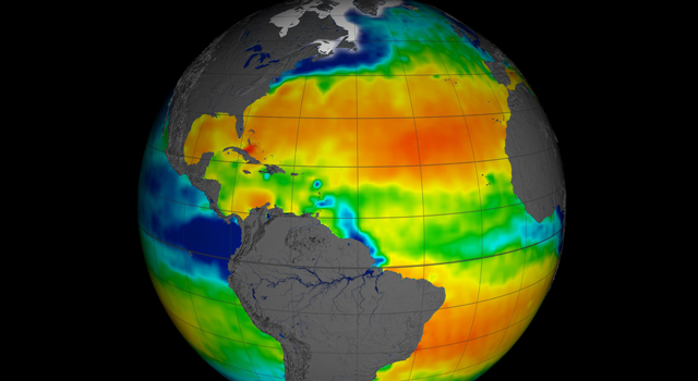 NASA has released the first full year of validated ocean surface salinity data from the agency's Aquarius