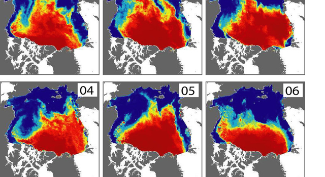 Arctic sea ice change