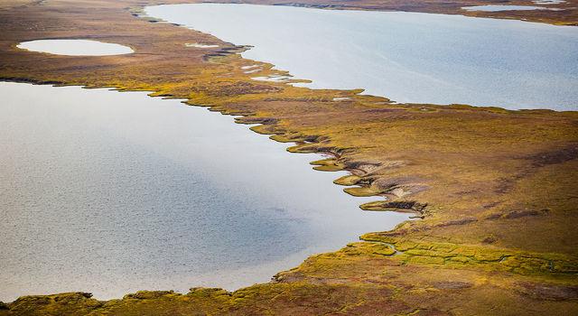 Thermokarst lake in Alaska