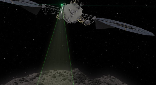 Graphic depicts the Asteroid Redirect Vehicle conducting a flyby