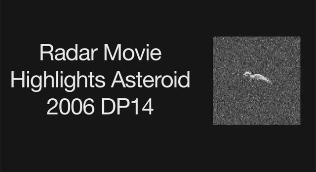 Asteroid 2006 DP14 in Radar Image