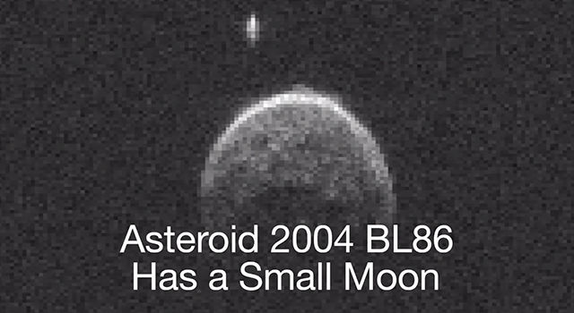 Asteroid 2004 BL86 Has a Small Moon