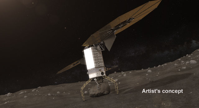 Artists concept of NASA's Asteroid Redirect Robotic Mission