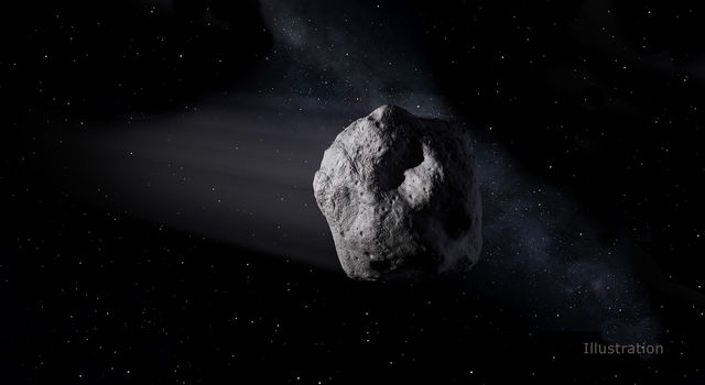 Artist's concept of a near-Earth object.