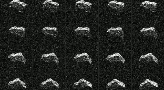 This composite of 25 images of asteroid 2017 BQ6