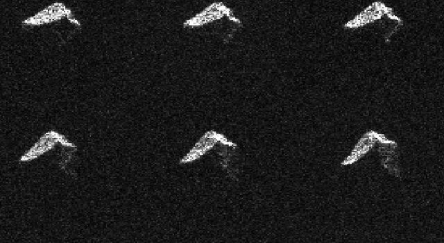 This composite of 11 images of asteroid 2017 BQ6.