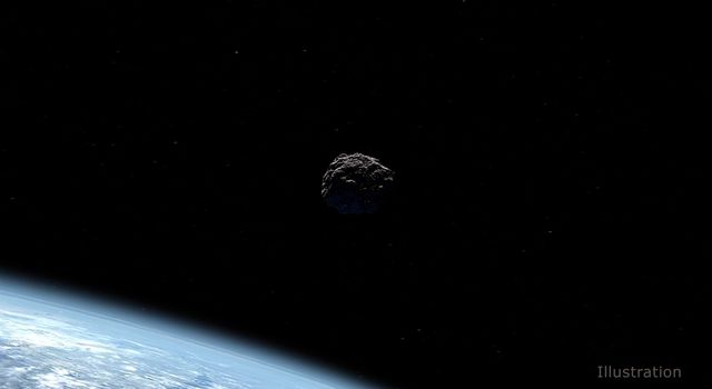 Artist's concept of a near-Earth object