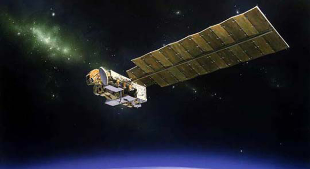 NASA's 10-year-old Aura satellite, which studies Earth's atmosphere