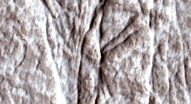 deformation bands in Martian bedrock