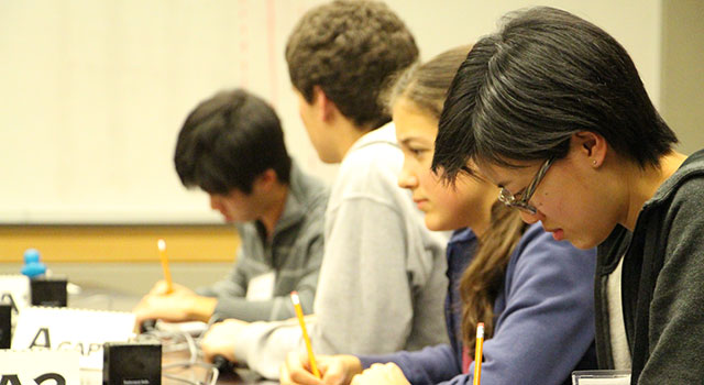 John Marshall Fundamental High School Competes in 2014 Science Bowl