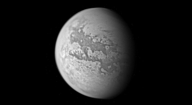 Titan, seen during Cassini's Mar. 31, 2005, flyby