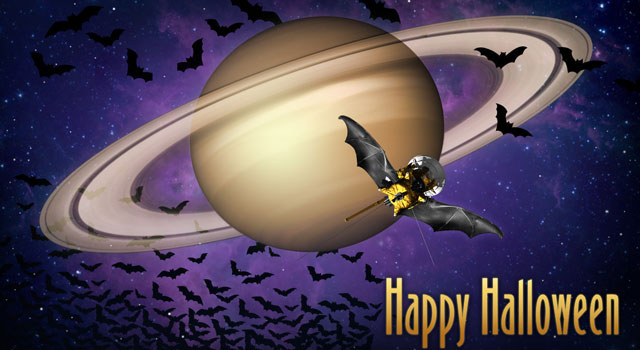 Artist's concept of Cassini with bat wings