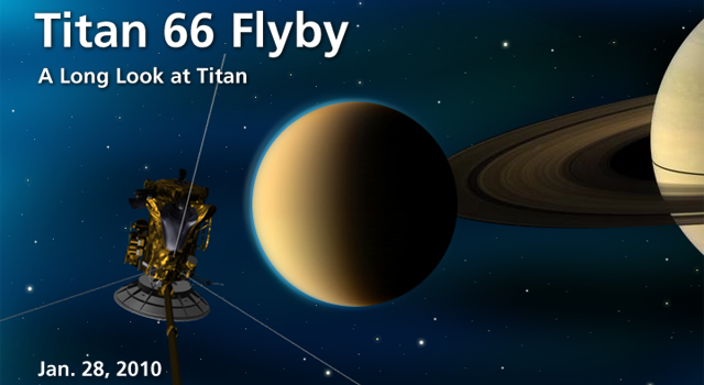Artist concept of Titan 66 Flyby A long look at Titan