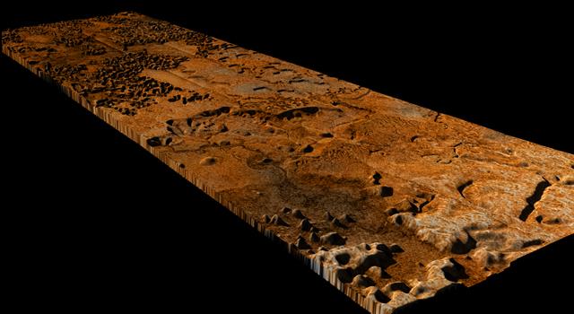Titan's Sikun Labyrinthus (artist's concept)