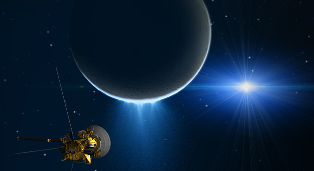 Cassini Measures Tug of Enceladus