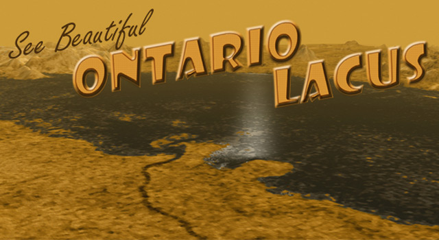 Artist's concept of Titan's Ontario Lacus