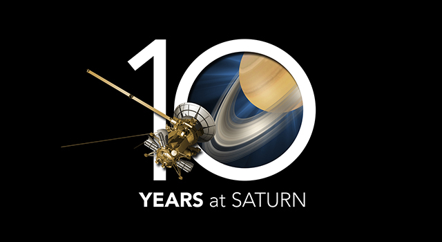 Cassini celebrates a decade in the Saturn system on June 30, 2014. Image credit: NASA/JPL-Caltech