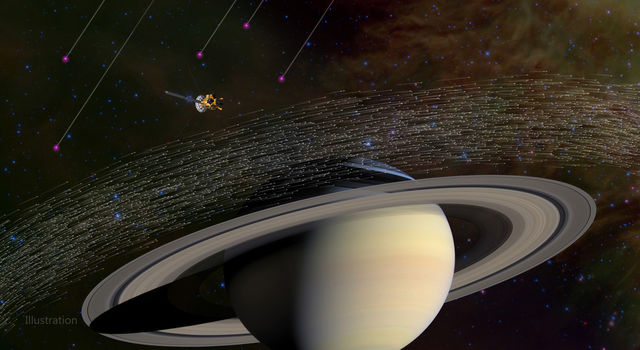 Of the millions of dust grains Cassini has sampled at Saturn, a few dozen appear to have come from beyond our solar system.