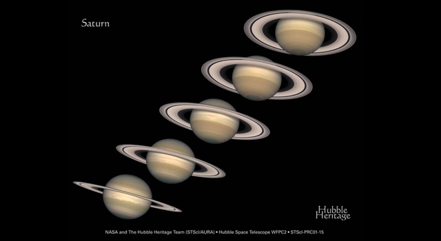 montage showing Saturn
