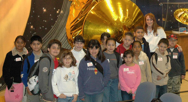 student participants in scientist-for-a-day program