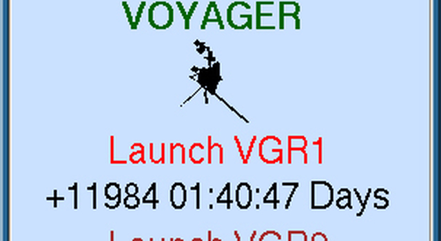 image of the official Voyager clock