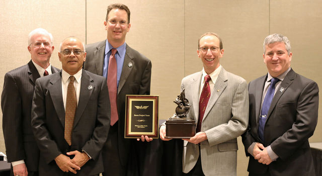 Members of the Dawn mission accept the 2015 Robert J. Collier Trophy recognition.