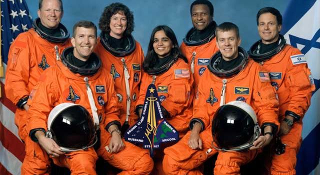 Asteroids Dedicated to Space Shuttle Columbia Crew