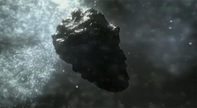 Video still of comet nearing the sun