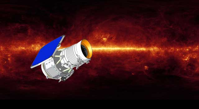 artist's concept of Wide-field Infrared Survey Explorer