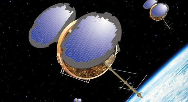 Artist's concept of Constellation Observing System for Meteorology, Ionosphere and Climate.