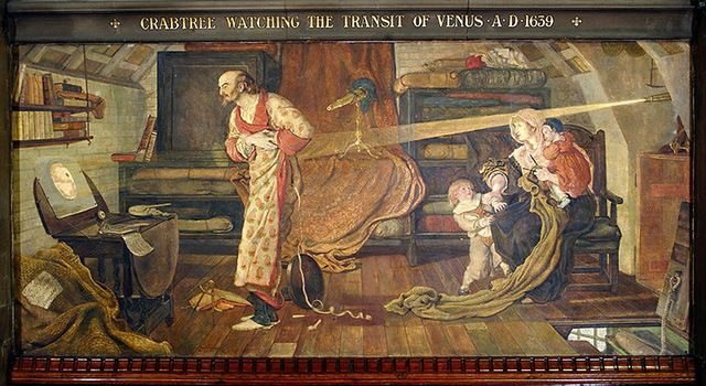 The first recorded transit of Venus