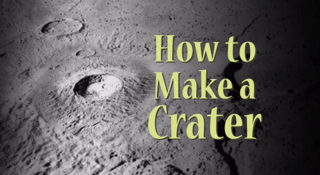 how to make a crater in a cake