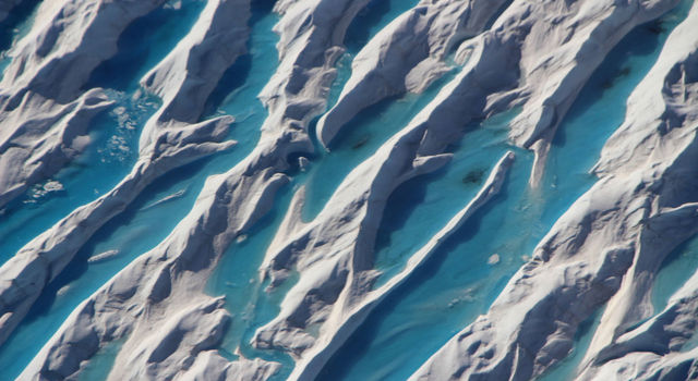 Crevasses in southern Greenland