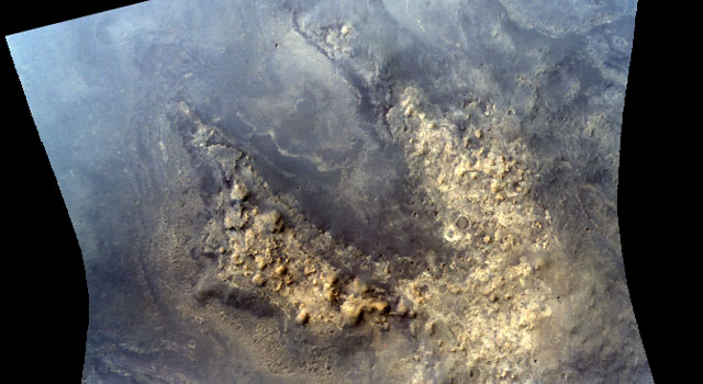 Rugged highland material in an area near the Martian equator