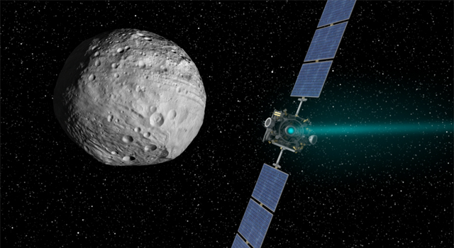 Artist's concept of Dawn and Vesta