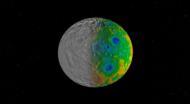 Dawn mission were surprised to find that Ceres has no clear signs of truly giant impact basins.
