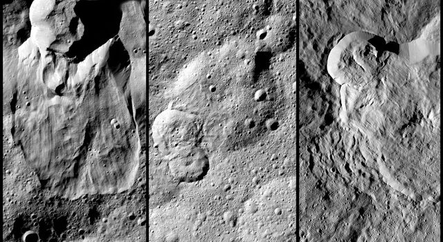 NASA's Dawn spacecraft has revealed many landslides on Ceres